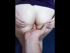 Tugging her ponytail and fucking her tight Brazilian ass from behind
